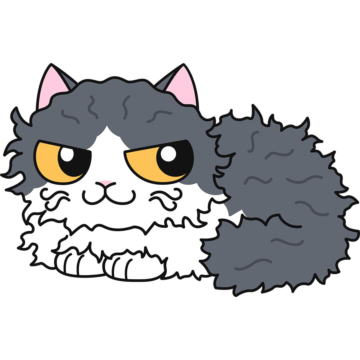 猫:セルカークレックスの無料イラスト