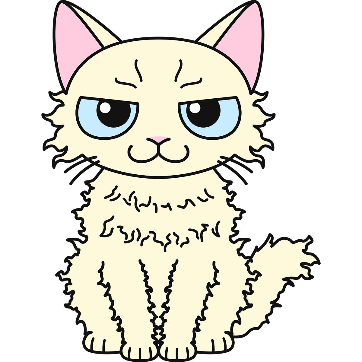 猫:ラパーマの無料イラスト