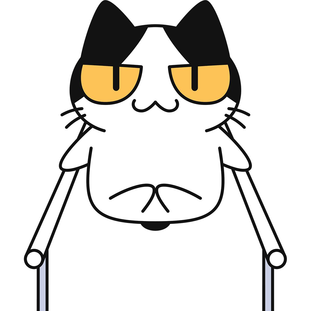 【体操】平行棒をする猫の無料イラスト