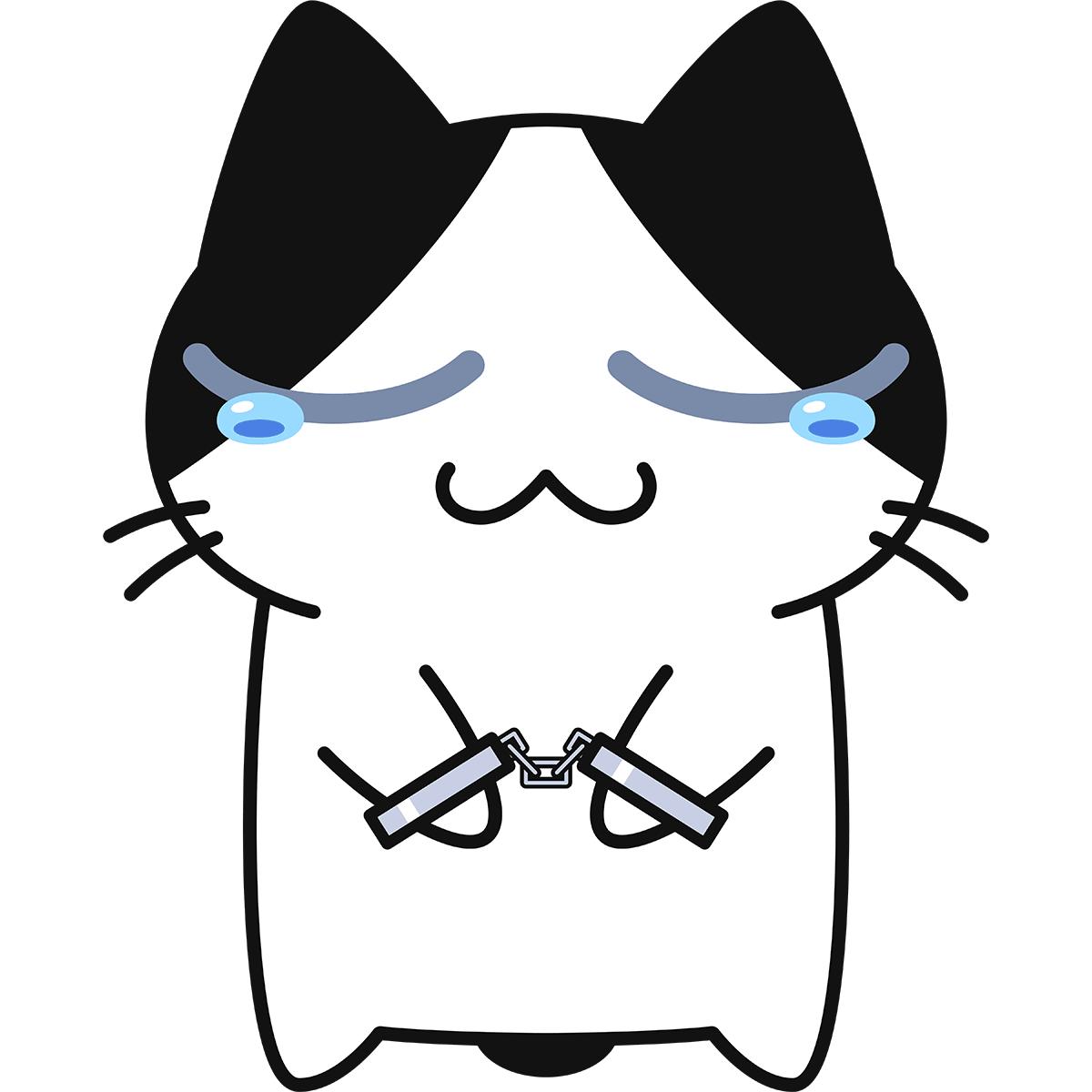 逮捕された猫の無料イラスト