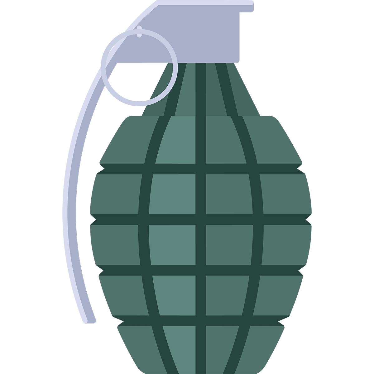 手榴弾の無料イラスト
