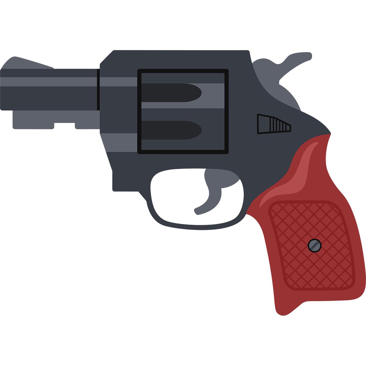 拳銃の無料イラスト