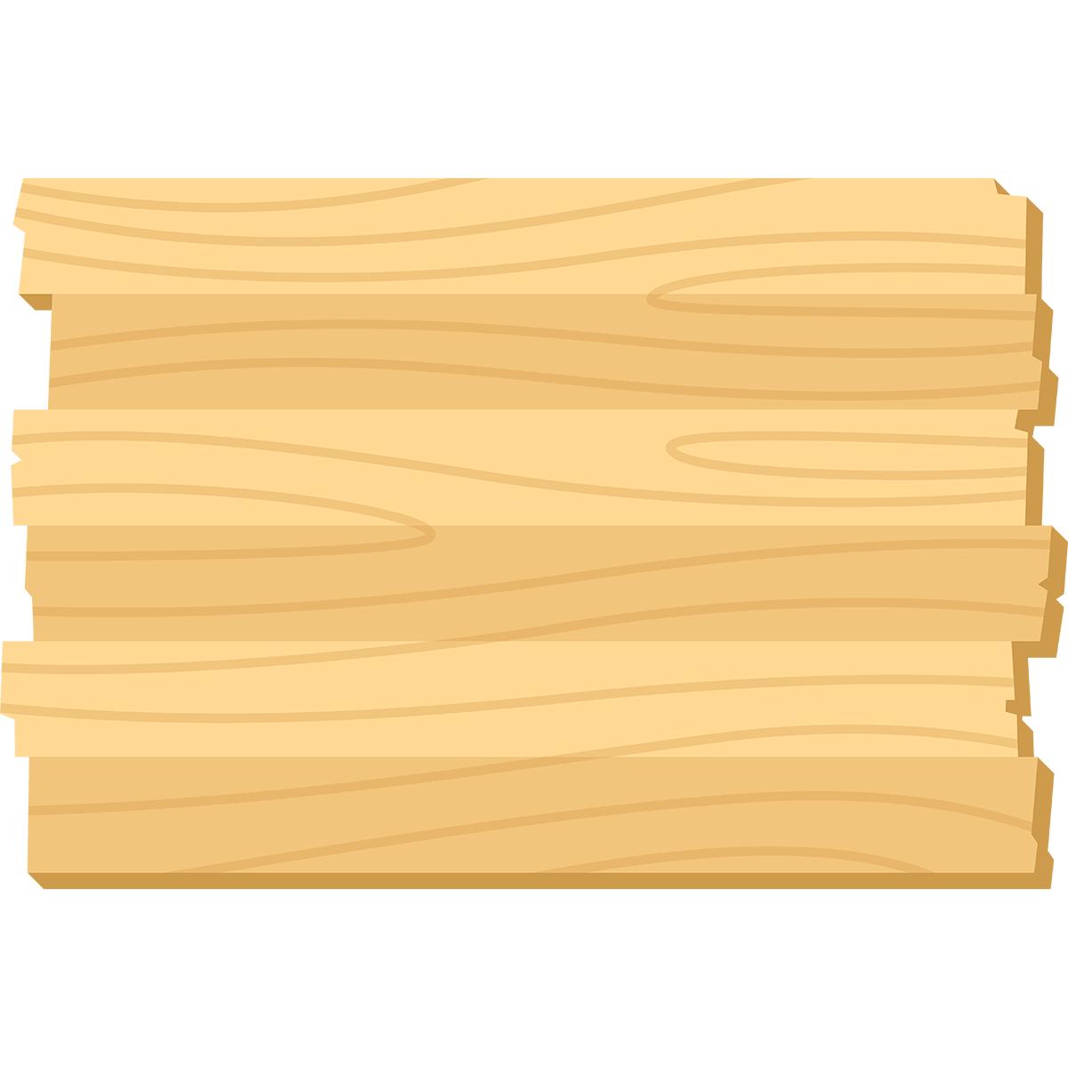 木の掲示板の無料イラスト