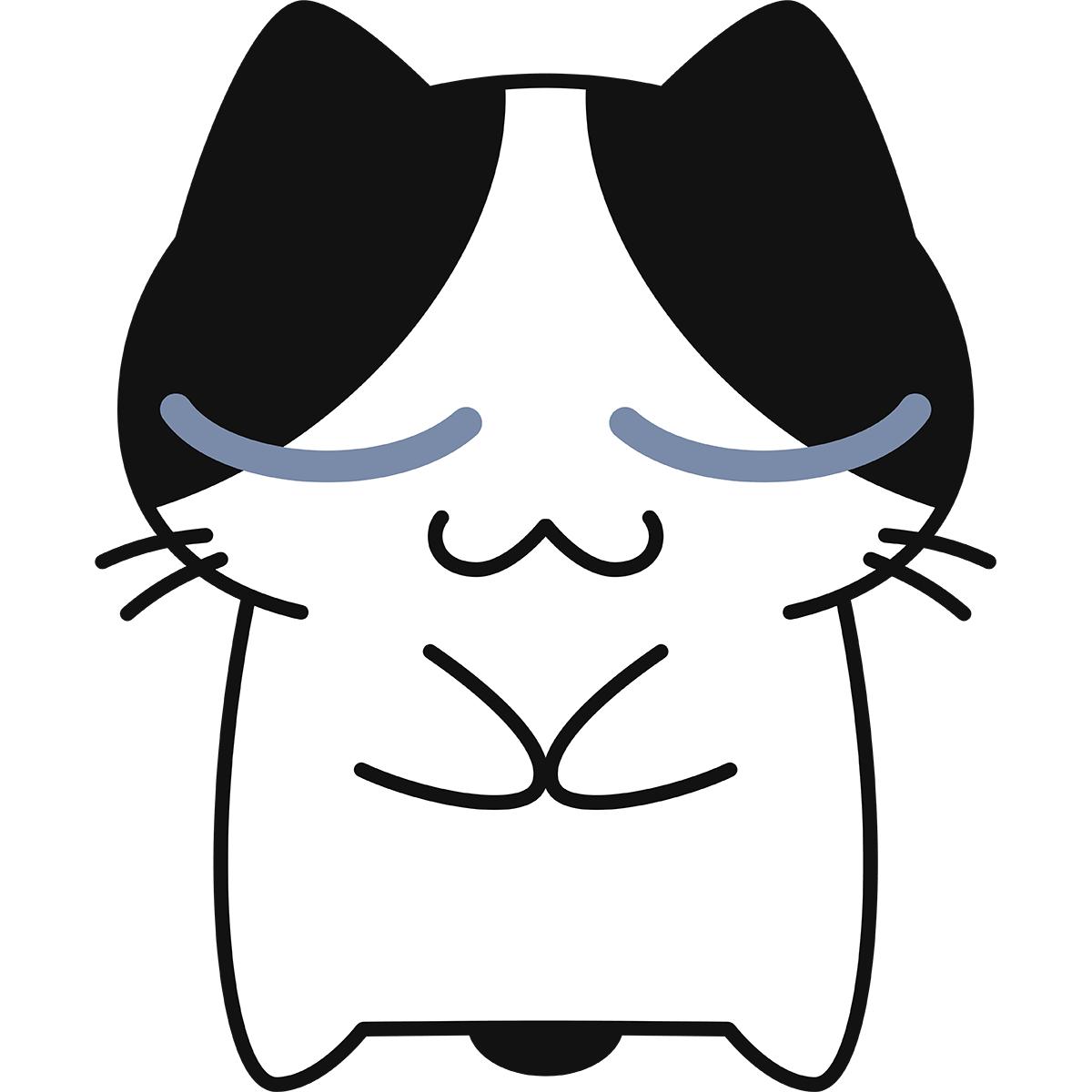 お辞儀をする猫の無料イラスト