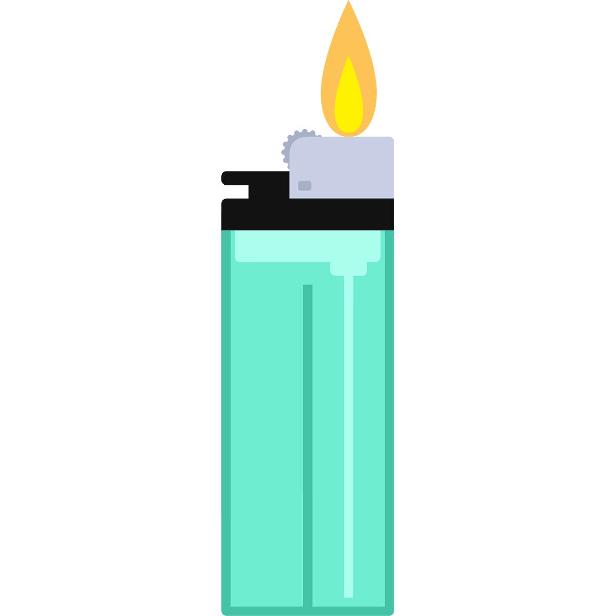 火のついたライターの無料イラスト