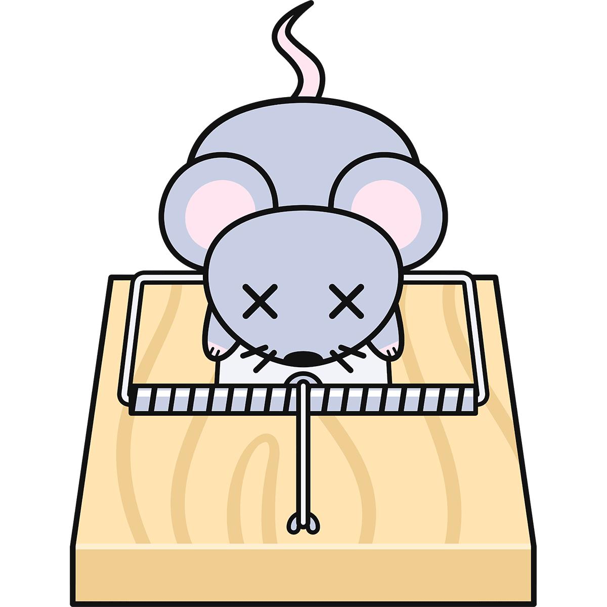 ネズミ捕りの無料イラスト