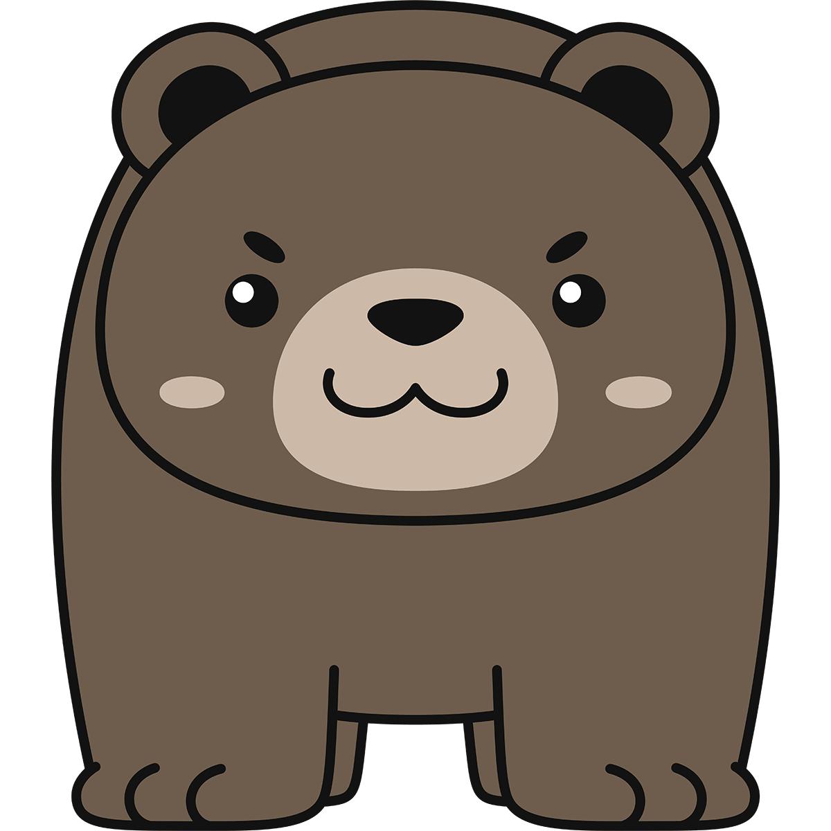 熊の無料イラスト