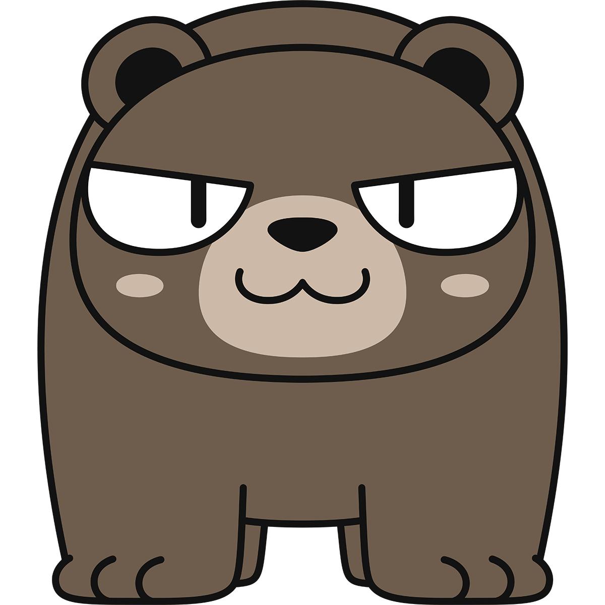 熊(猫目)の無料イラスト
