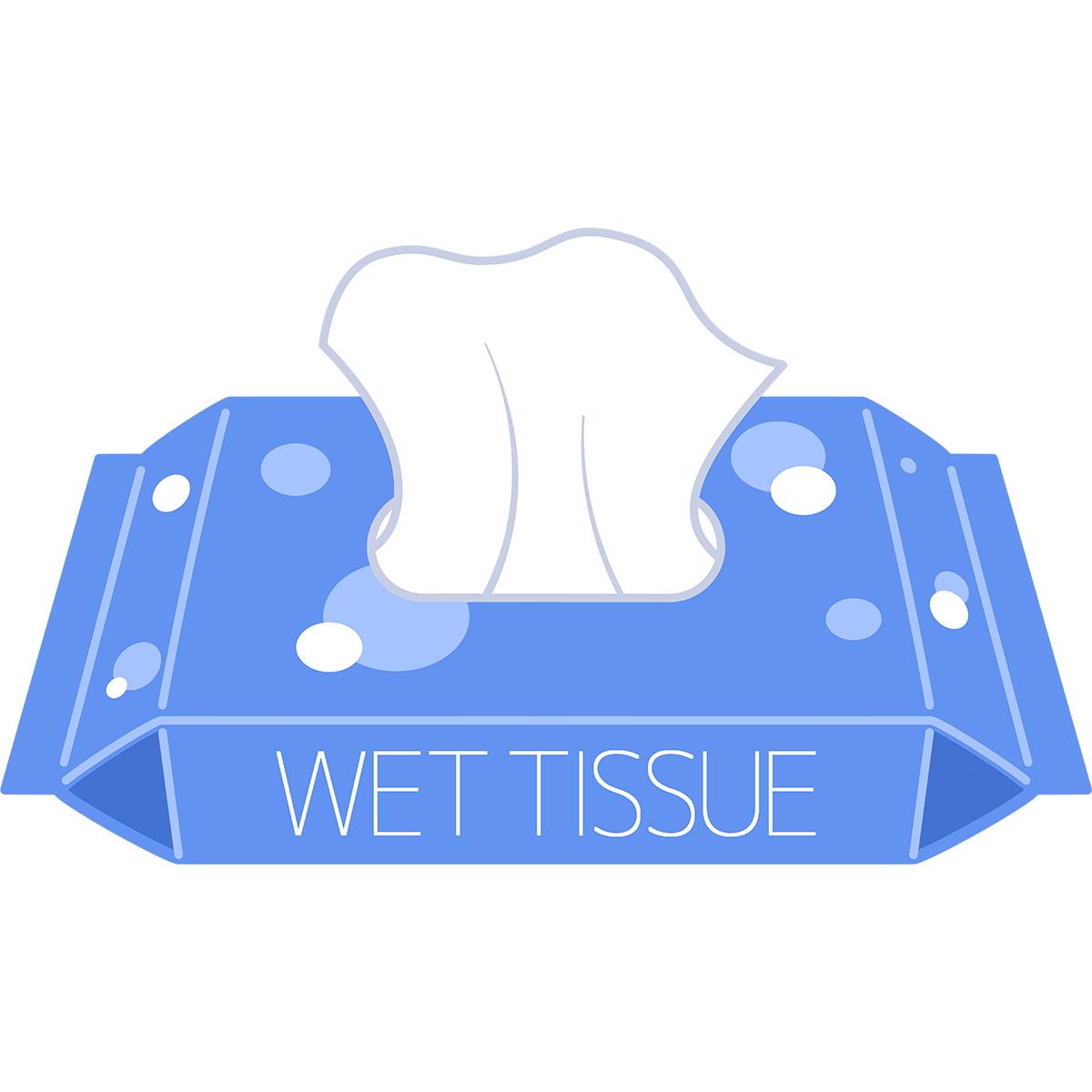 ウエットティッシュの無料イラスト