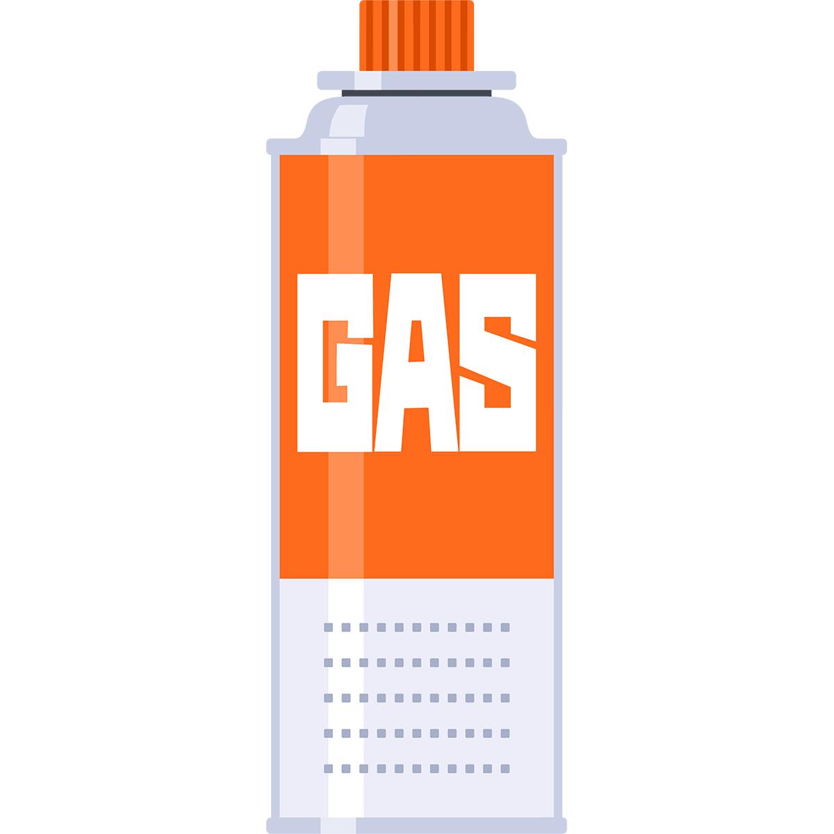 ガス缶の無料イラスト