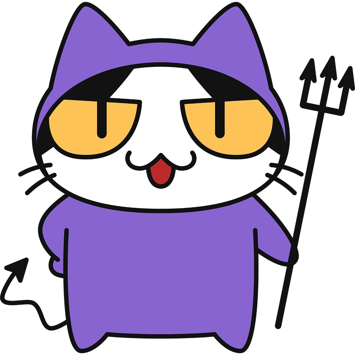 ばい菌になった猫の無料イラスト