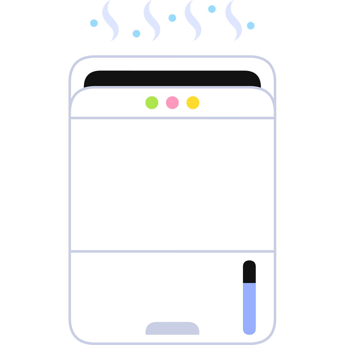 除湿器の無料イラスト