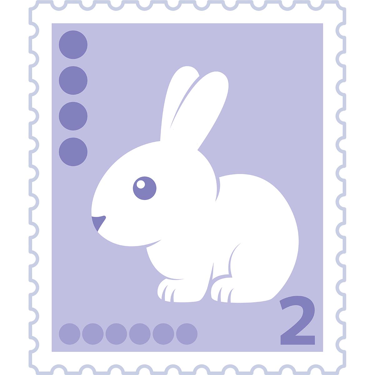 2円切手の無料イラスト