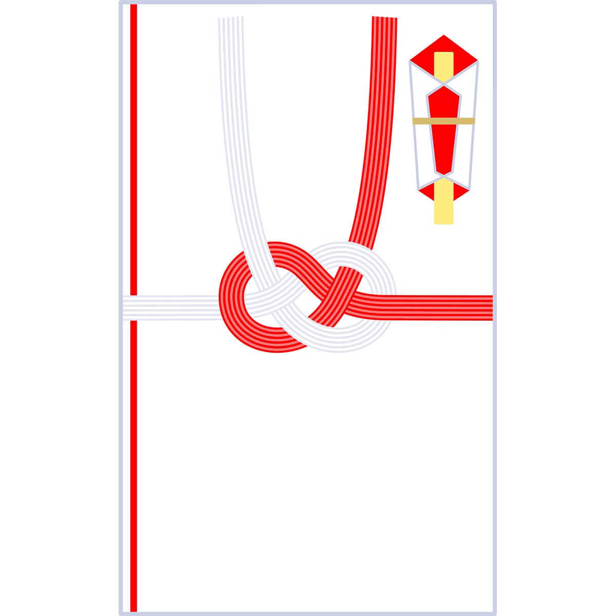 ご祝儀袋(あわじ結び)の無料イラスト
