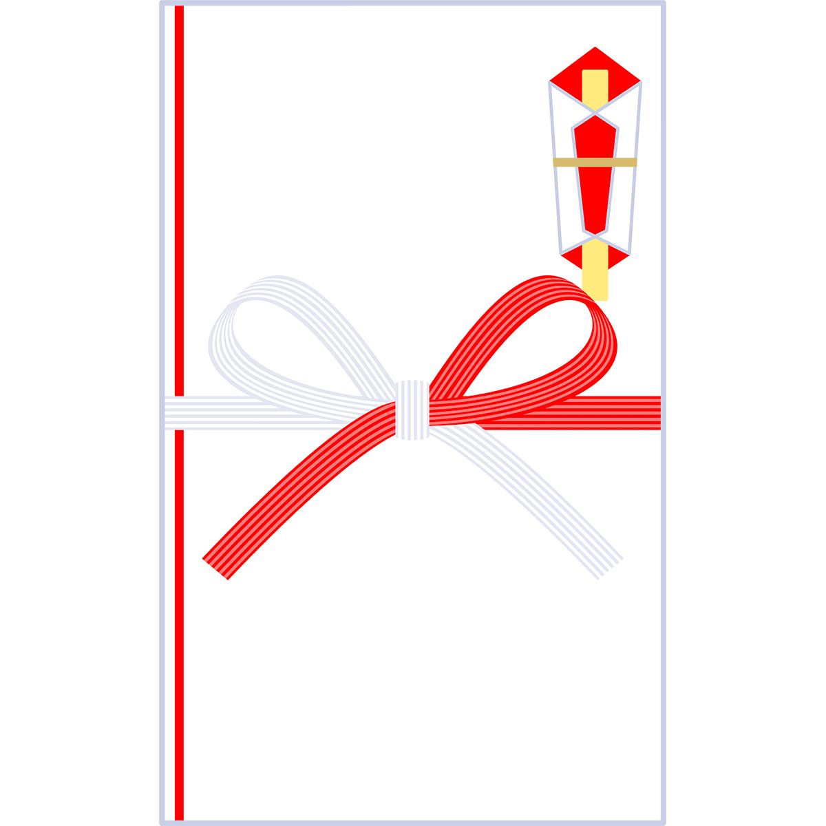 ご祝儀袋(蝶結び)の無料イラスト