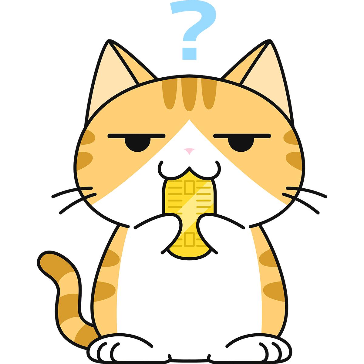 猫に小判の無料イラスト