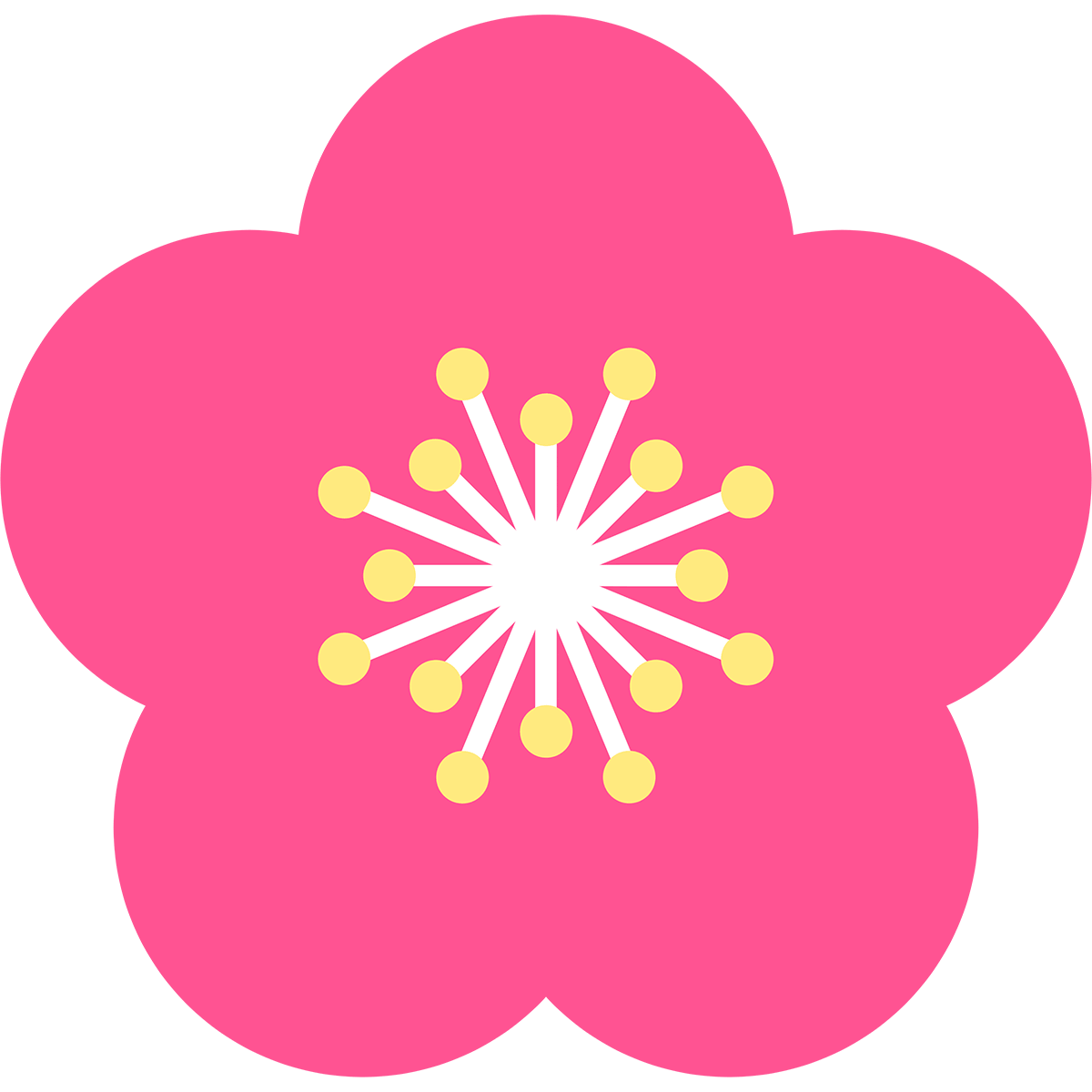 梅の花の無料イラスト
