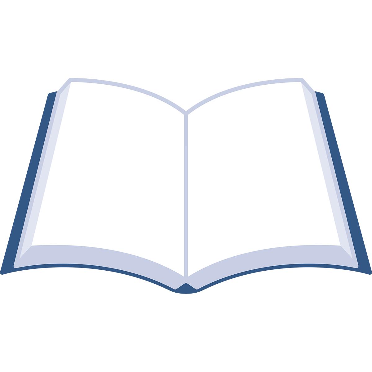 開いた本の無料イラスト