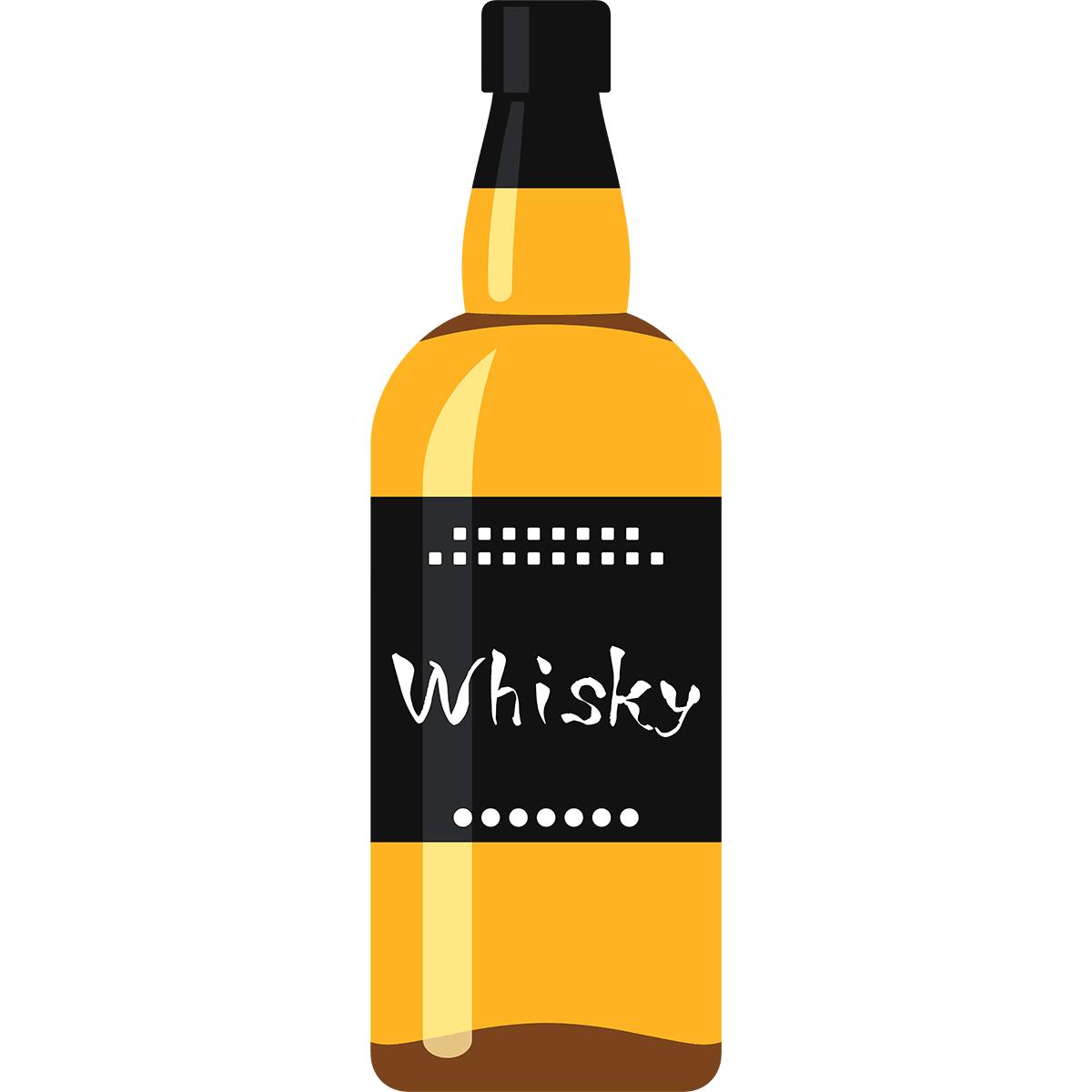 ウイスキーの無料イラスト
