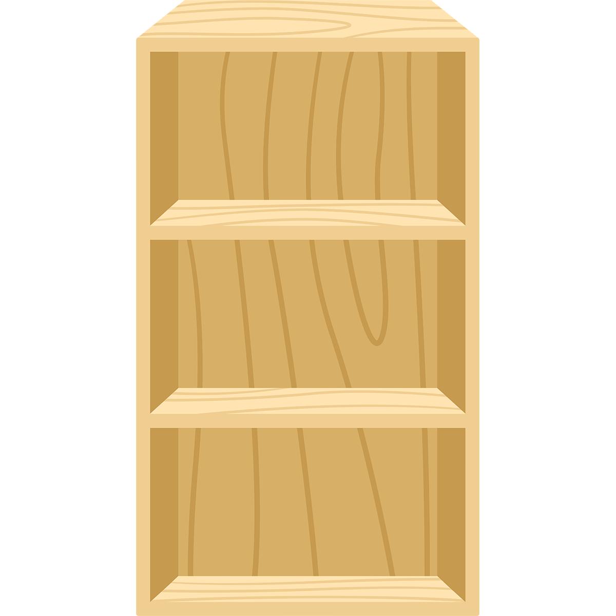 カラーボックスの無料イラスト