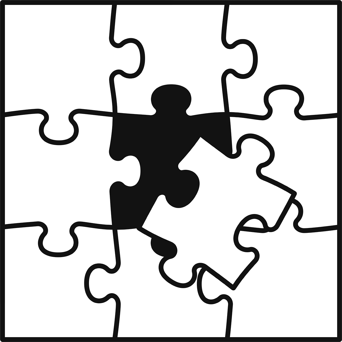 ジグソーパズルの無料イラスト