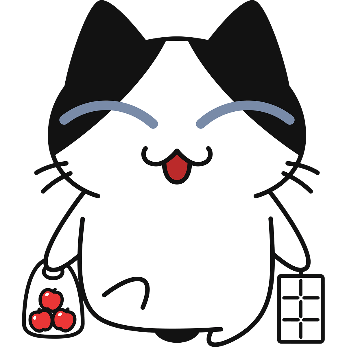 買物をする猫の無料イラスト