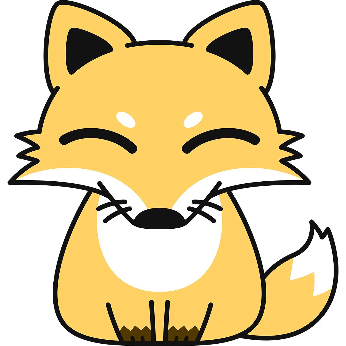 キツネ(狐)の無料イラスト