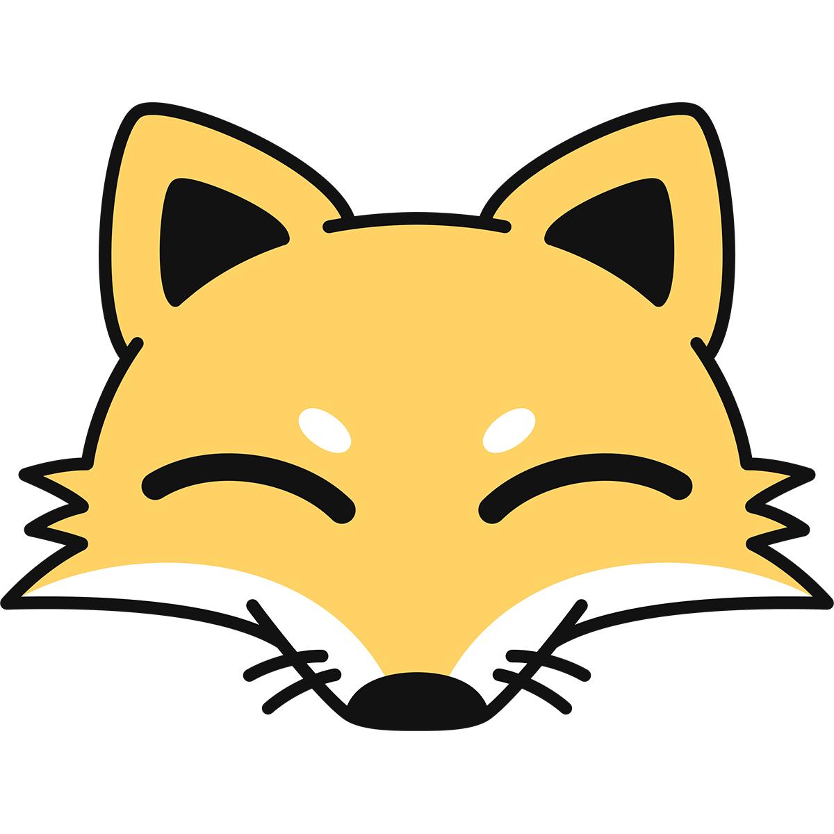 キツネの顔(狐)の無料イラスト