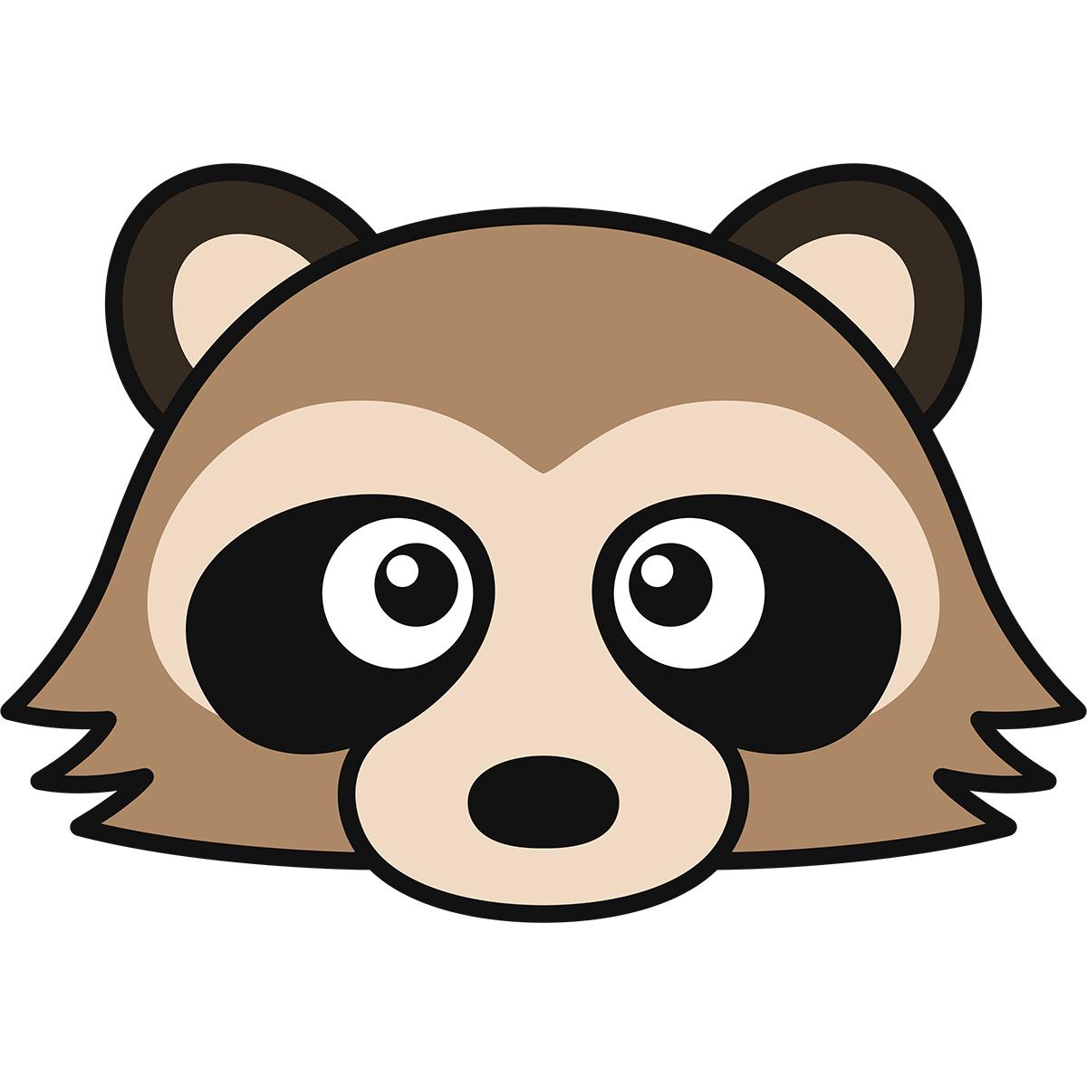 タヌキの顔(狸)の無料イラスト