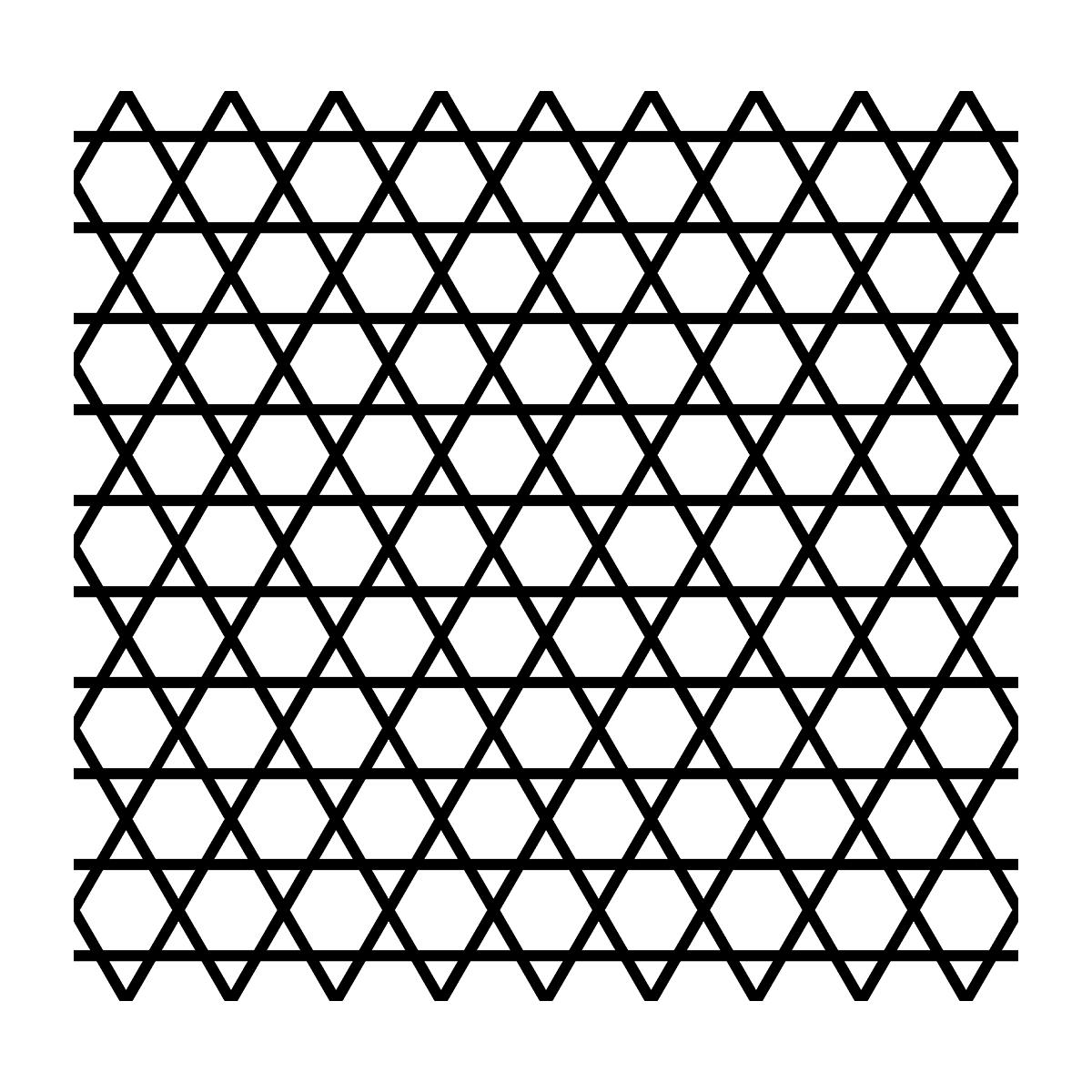 【パターン】籠目の無料イラスト