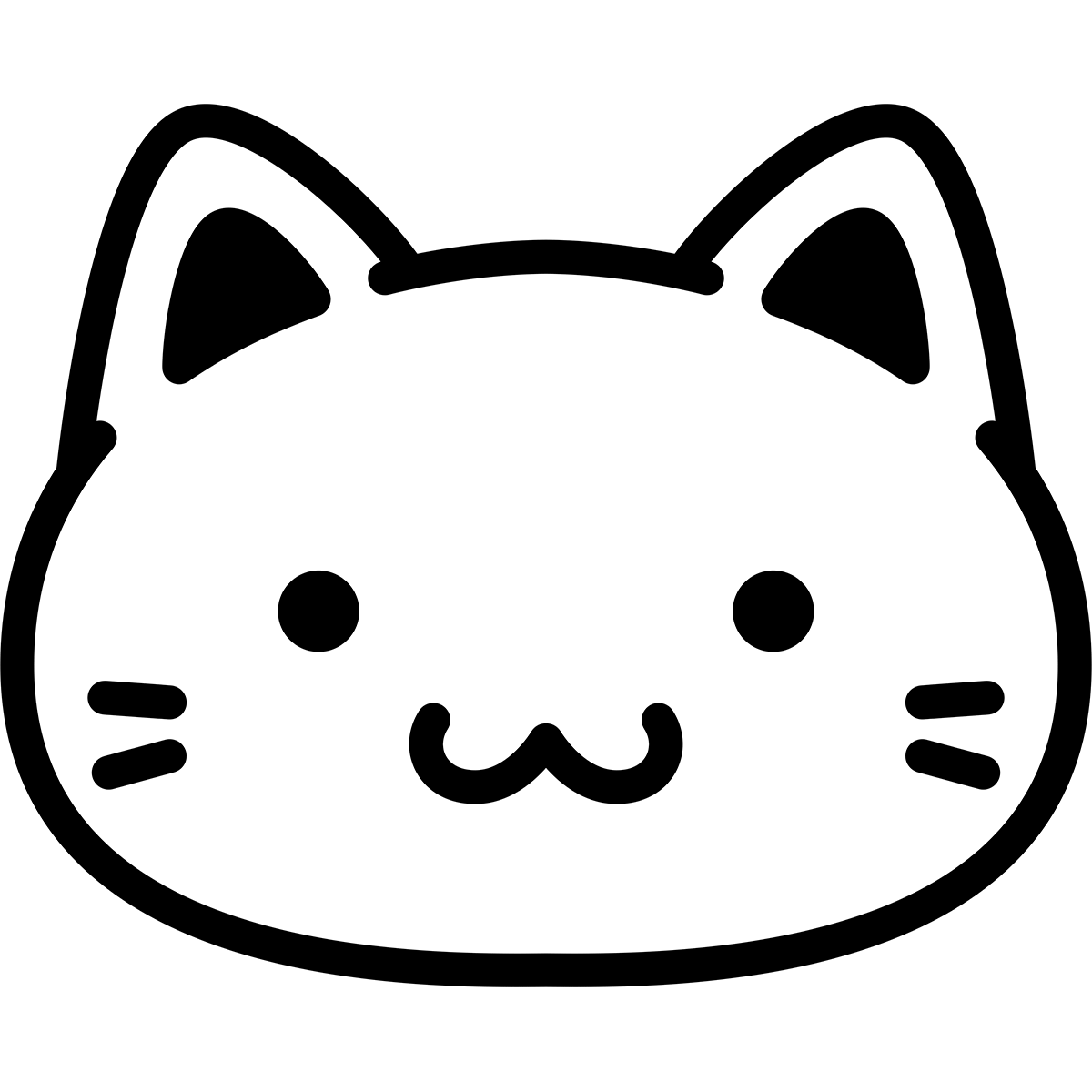 【アイコン】白猫の無料イラスト