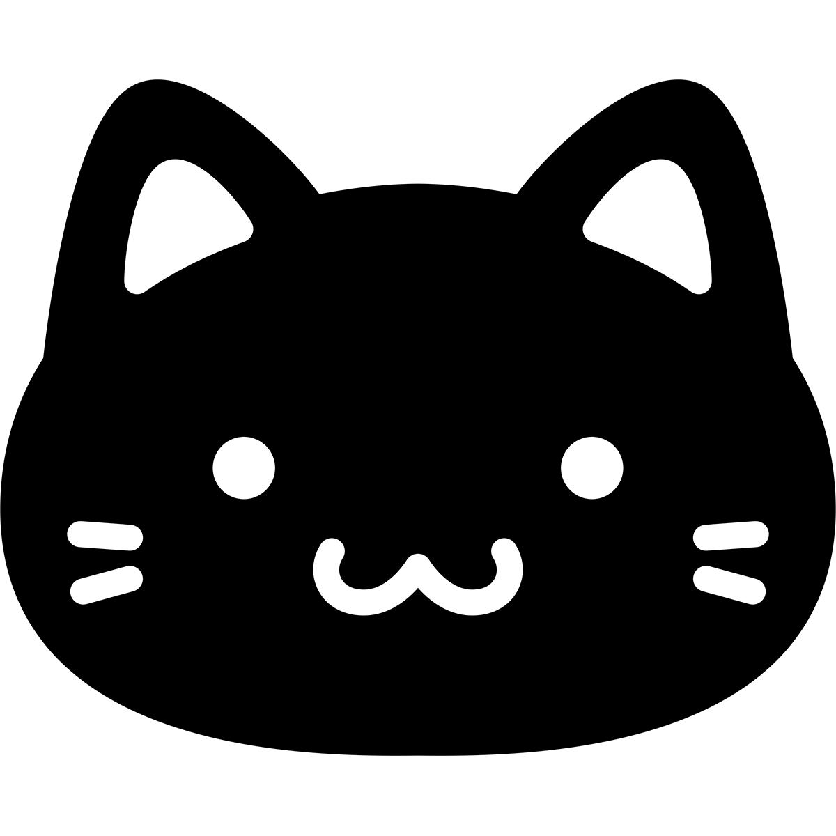 【アイコン】黒猫の無料イラスト