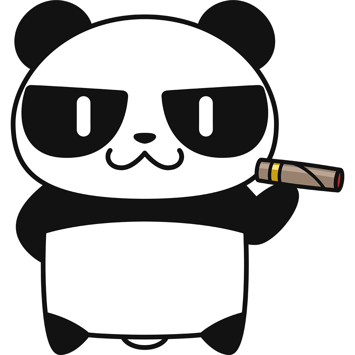 パンダ(ボス)の無料イラスト