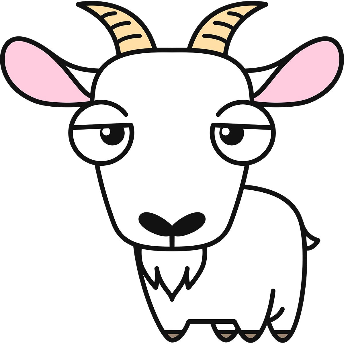 ヤギの無料イラスト