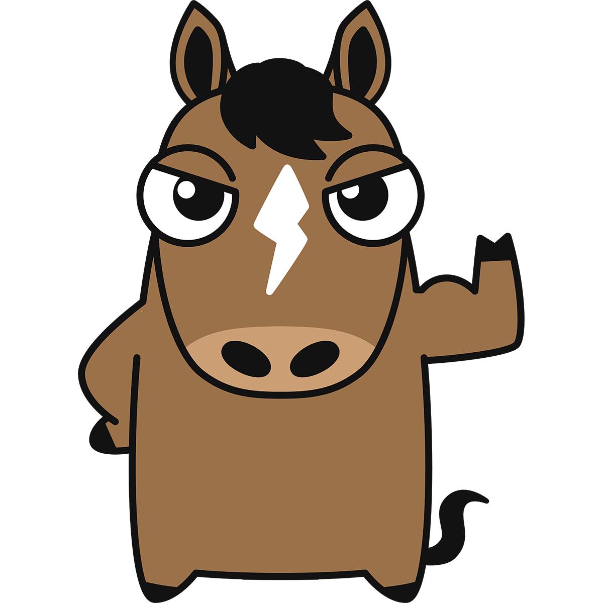 馬(ダービーくん)の無料イラスト