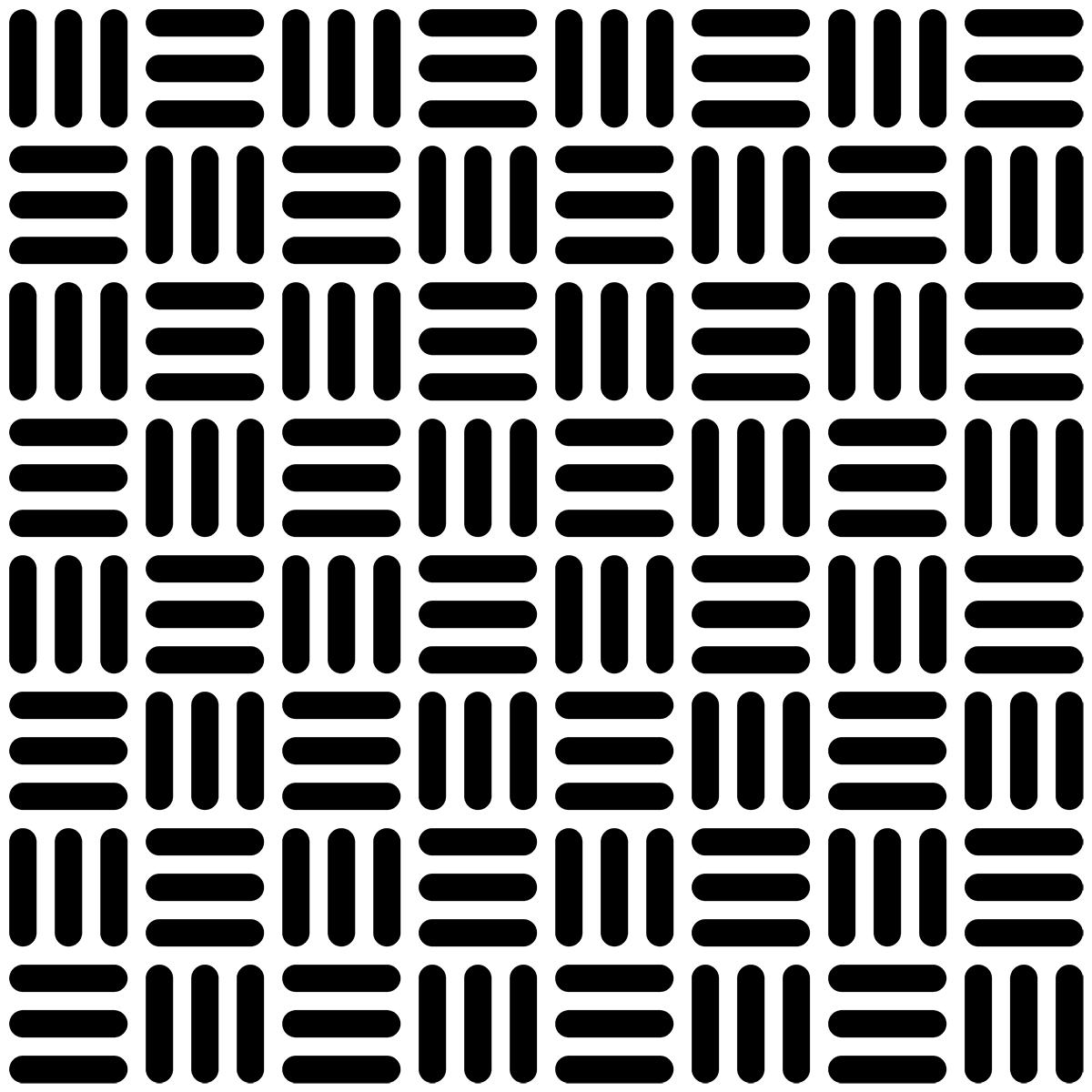和柄(算木崩し-角丸)の無料イラスト