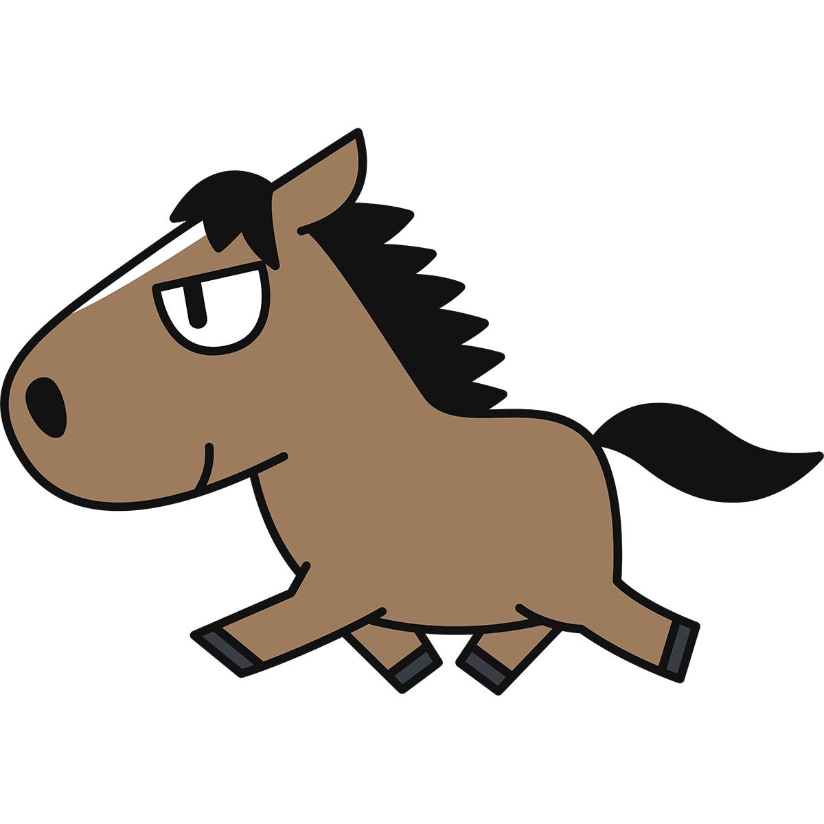 走る馬の無料イラスト