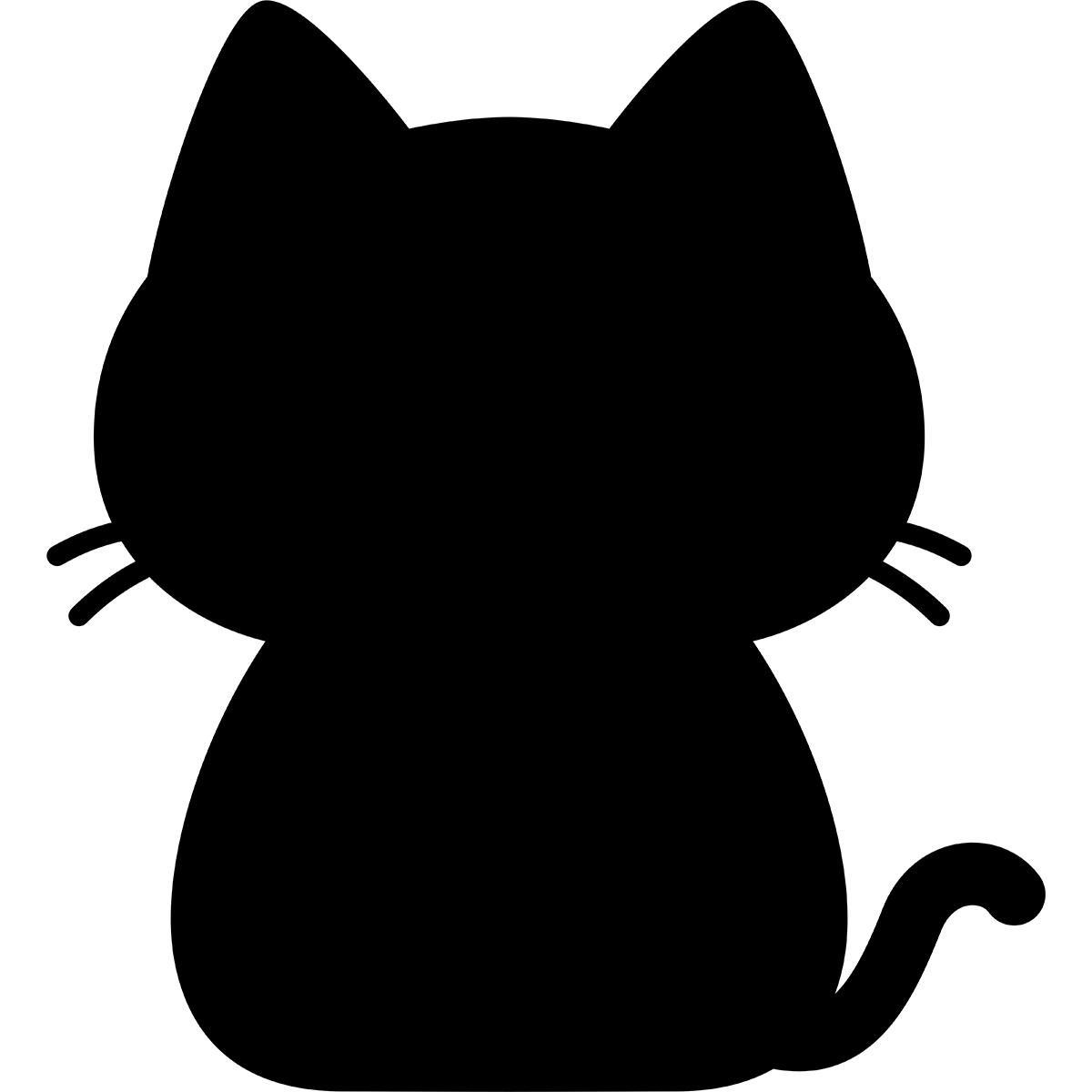 猫のシルエットの無料イラスト