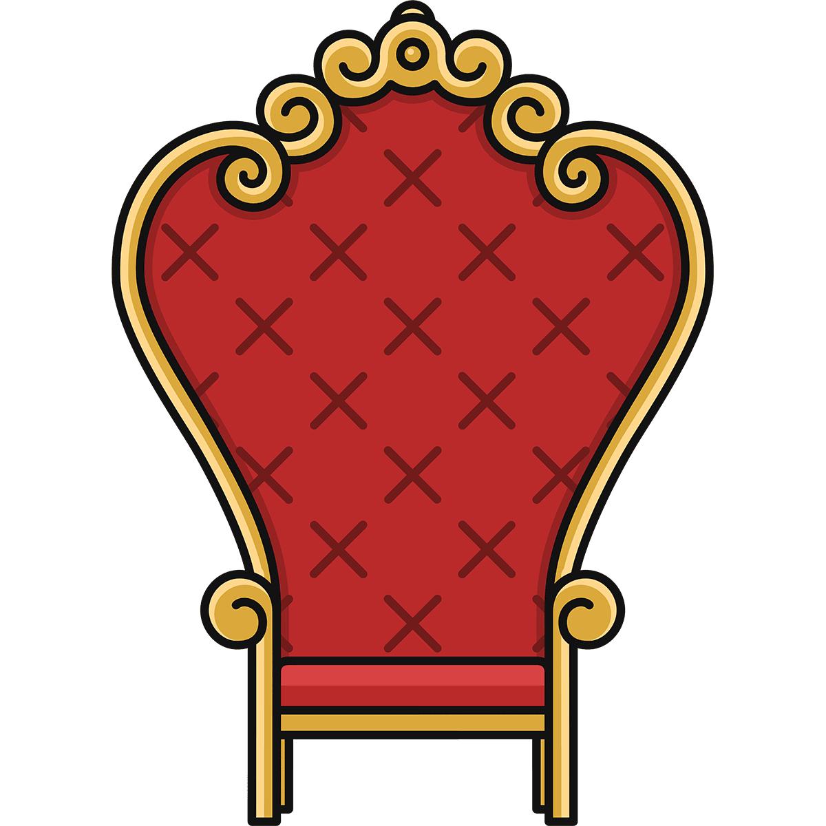 王様の椅子の無料イラスト